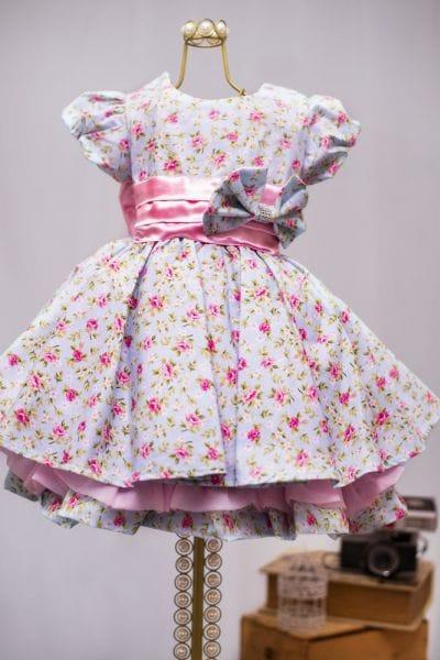 Vestido Infantil Florido para Festa