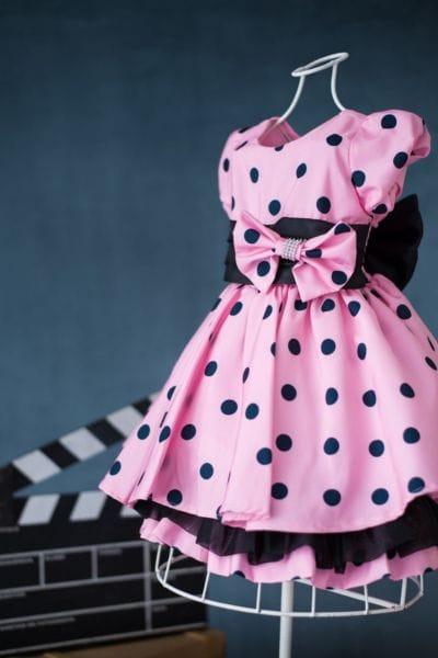 Vestido temático Minnie rosa