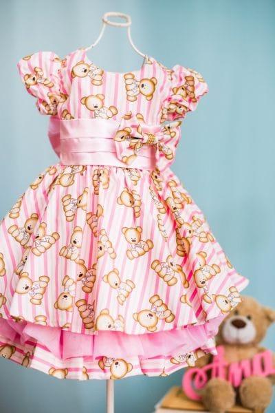 Vestido Infantil Ursinhos