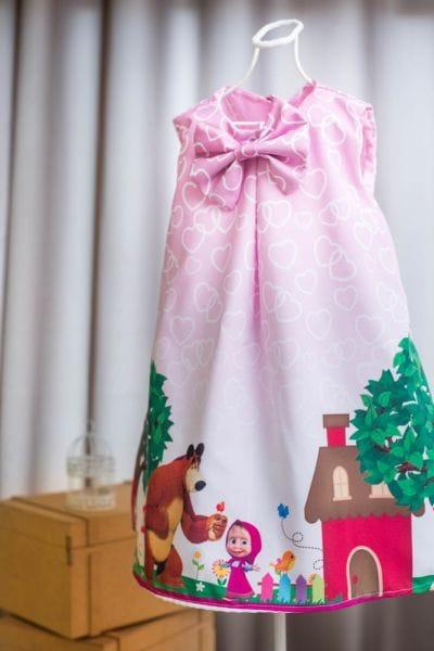 Vestido de festa Masha e o Urso
