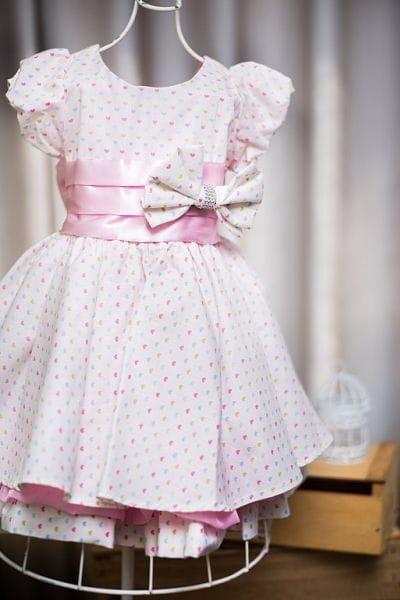 Vestido infantil para festa de aniversário