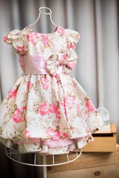 Vestido Infantil Jardim para Festa de Aniversário
