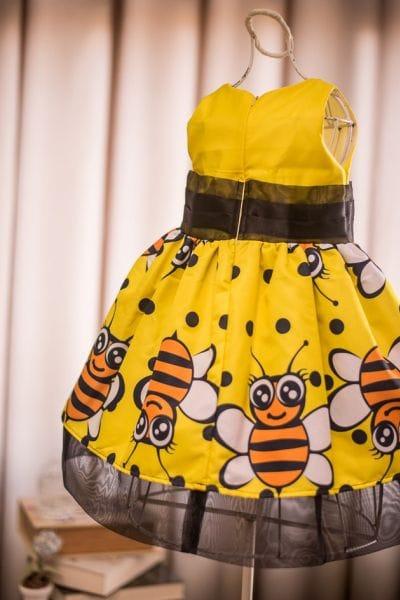 Vestido para Festa Infantil da Abelhinha Luxo