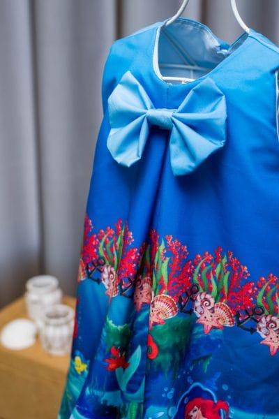 Vestido Pequena Sereia simples