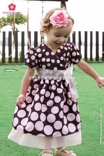 Vestido de poá infantil