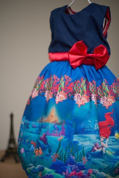 Vestido Infantil da Ariel