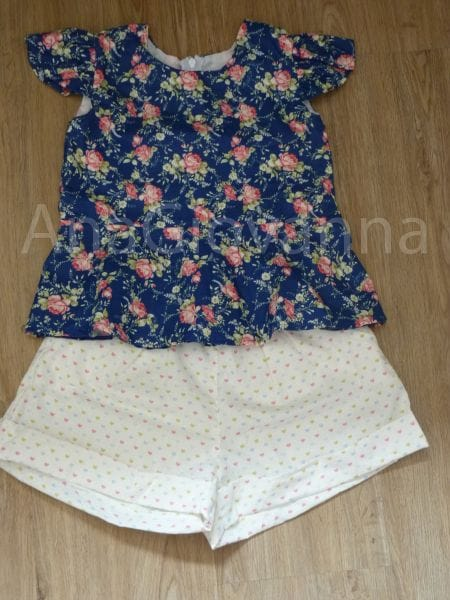 Conjunto Blusa e Short Infantil para Menina