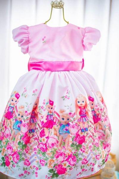 Vestido de Festa Infantil da Baby Alive
