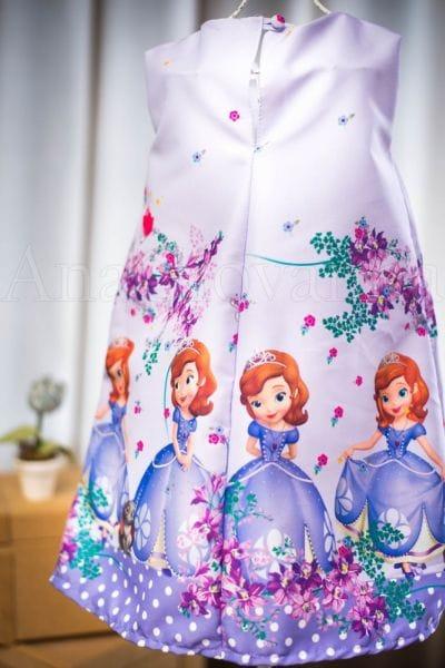 Vestido da Princesa Sofia Infantil