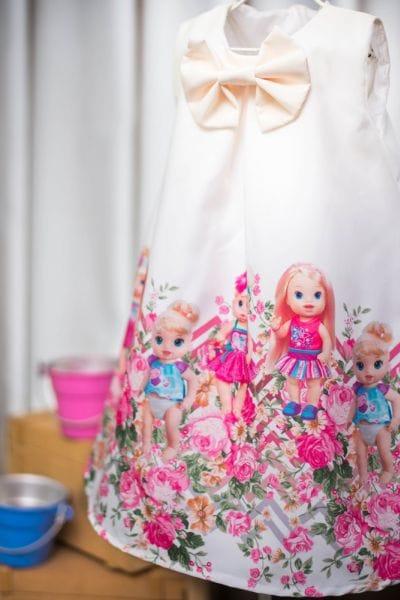 Vestido para Festa Infantil Baby Alive