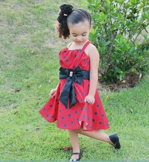 Vestido de festa infantil Miraculous Ladybug