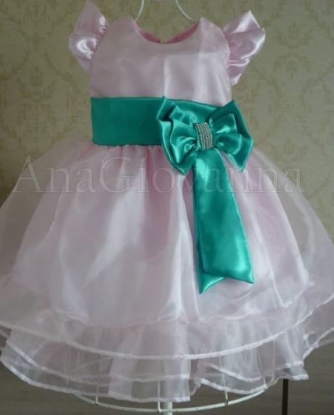 Vestido da Moranguinha Baby para Festa Infantil