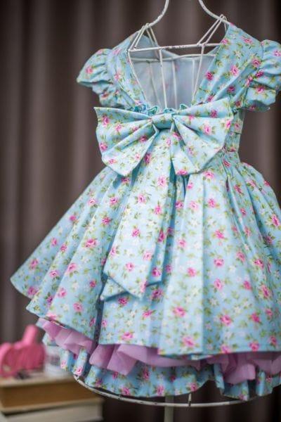 Vestido para Festa Infantil Florido
