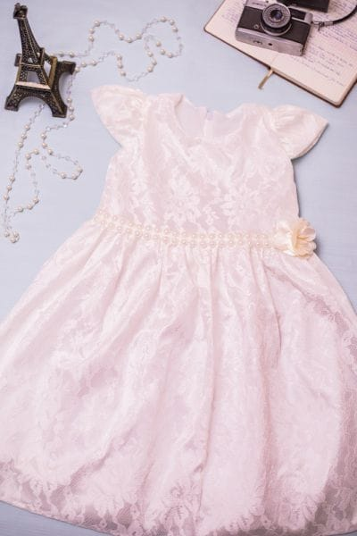 Vestido para Festa Infantil Off-White