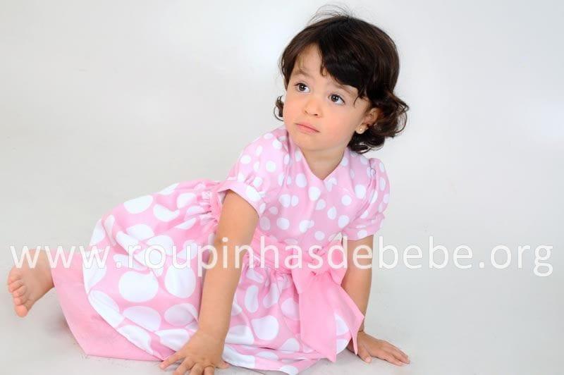 Vestido Infantil Rosa da Minnie
