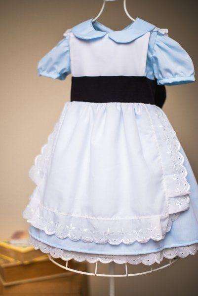 Vestido temático Alice no País das Maravilhas