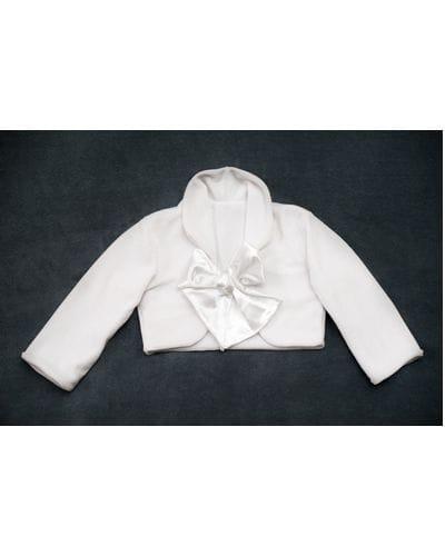 Bolero Branco Infantil Feminino