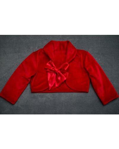 Bolero Infantil Vermelho de Plush