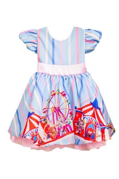 Vestido Infantil Circo Rosa