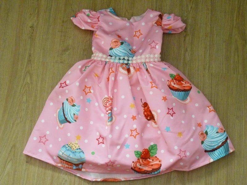 Vestido Infantil de Cupcake para festa