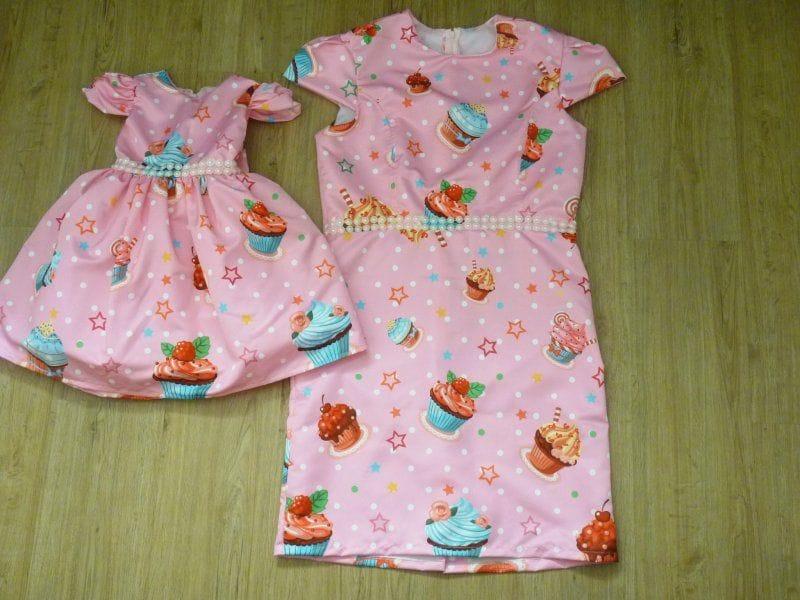 Vestidos Mãe e Filha Cupcake