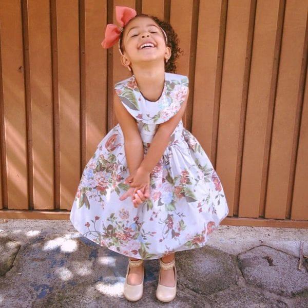 Vestido infantil de festa de aniversário