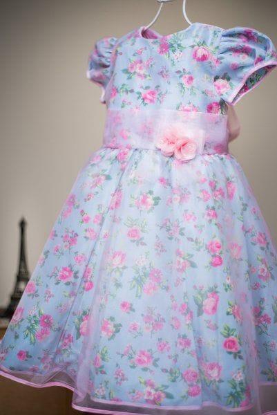 Vestido Infantil de Festa Princesa Floral