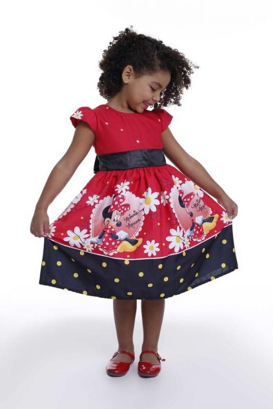 Vestido da Minnie Infantil para aniversário