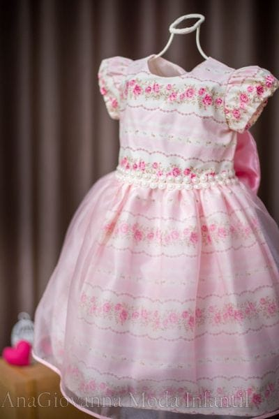 Vestido de Festa Infantil Princesa Floral