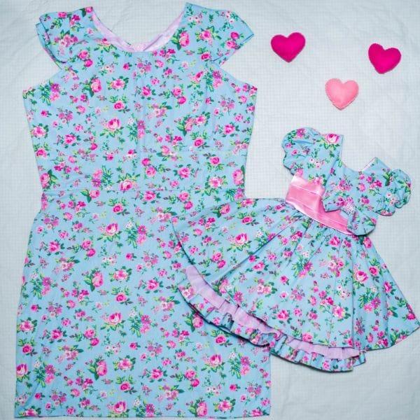 Vestidos de Festa Floral Mãe e Filha