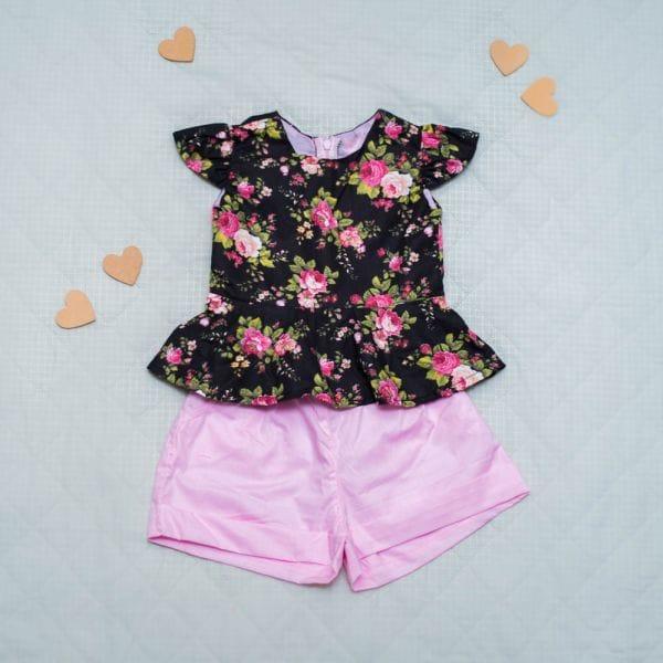 Roupa Infantil Feminina Conjunto Floral