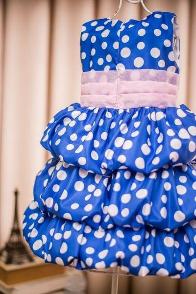 Vestido Galinha Pintadinha rosa e azul