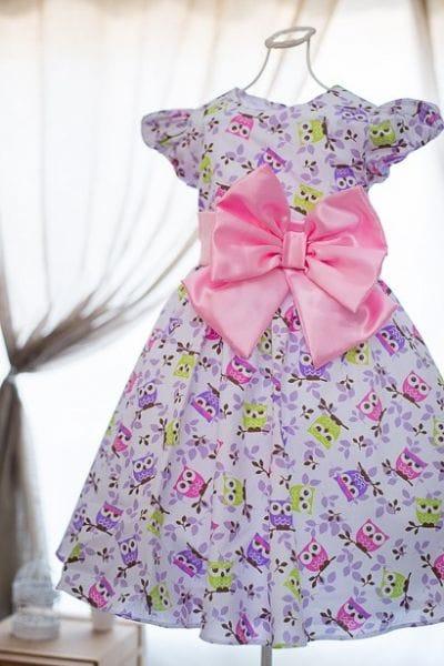 Vestido de Festa Infantil Corujinha
