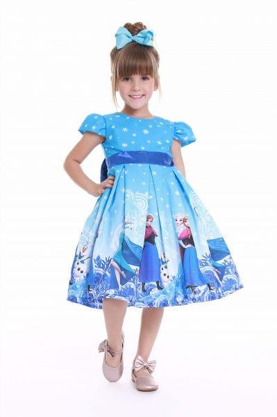 Vestido Infantil de Festa da Frozen Ana e Elsa