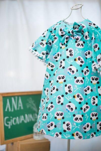 Vestido infantil Pandinha