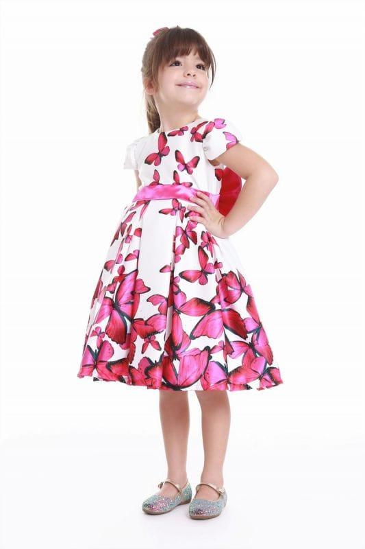 Vestido de Festa Infantil Borboletas