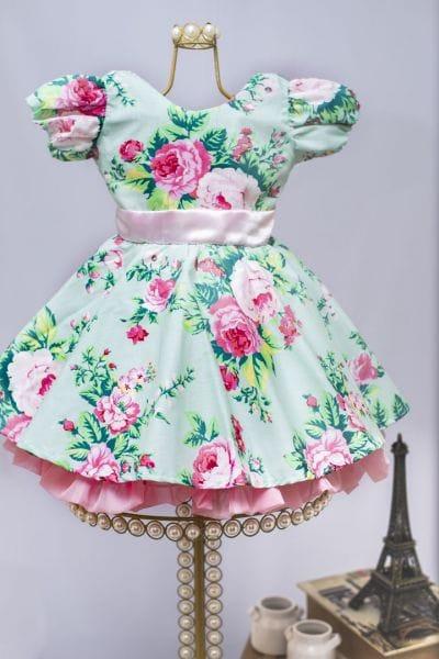 Vestido de Festa Infantil Jardim Encantado
