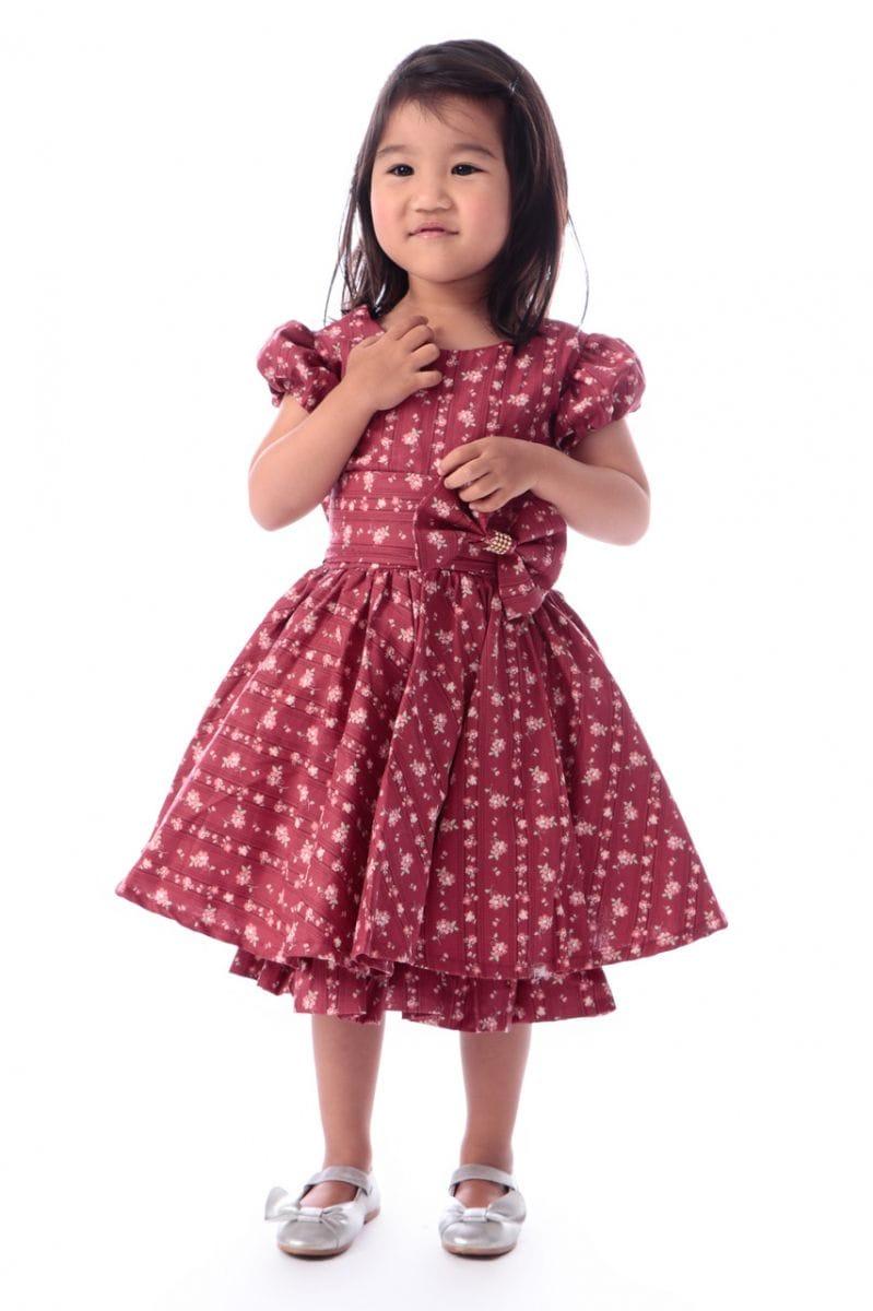 Vestido Infantil Floral Festa