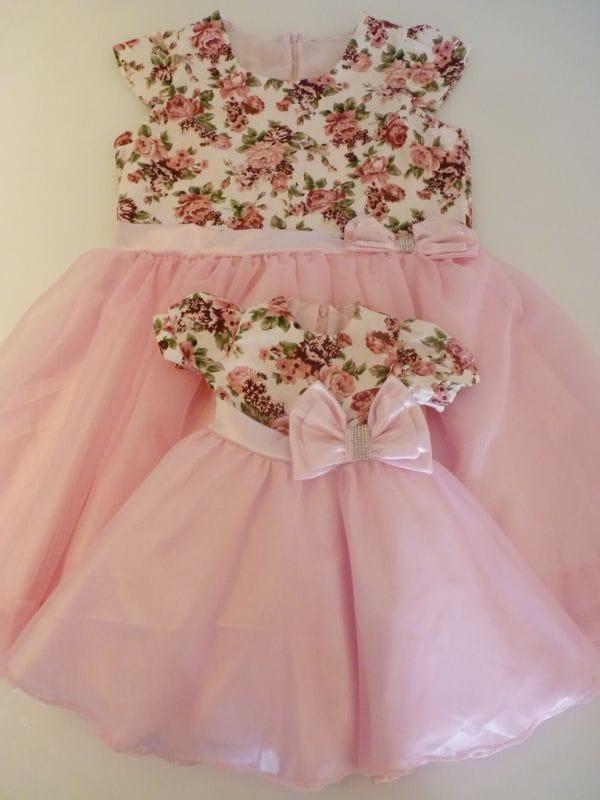 Vestidos de Festa Mãe e Filha Floral