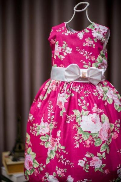 Vestido Infantil de tecido para festa