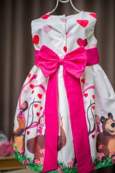 Vestido Para Festa Infantil Masha e o Urso