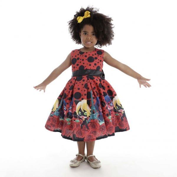 Vestido Infantil Tema Lady Bug