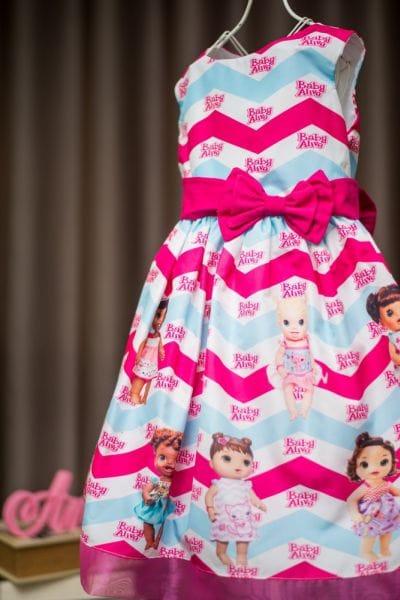 Vestido tema Baby Alive infantil