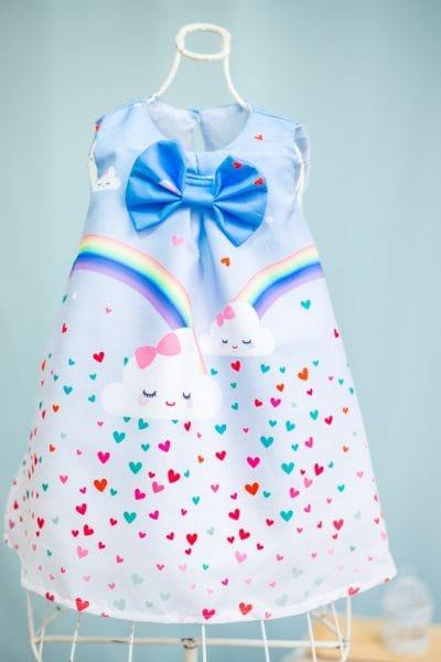 Vestido Chuva de Amor Infantil