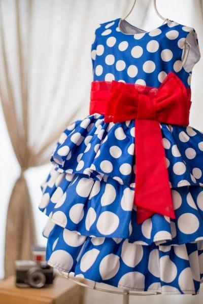 Vestido Galinha Pintadinha com Babados Degradê