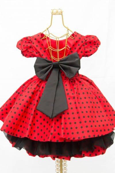 Vestido Minnie Vermelha Festa Infantil Luxo