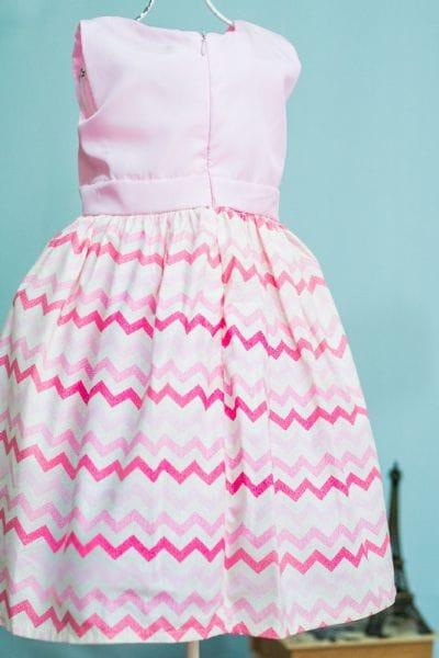 Vestido de Festa Infantil Listrado