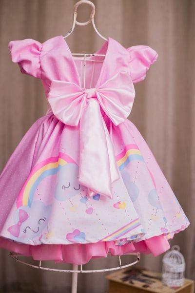 Vestido Infantil Chuva de Amor Luxo