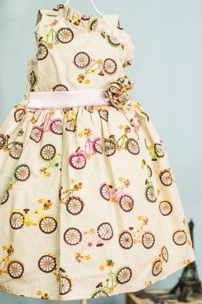 Vestido Infantil Bicicleta