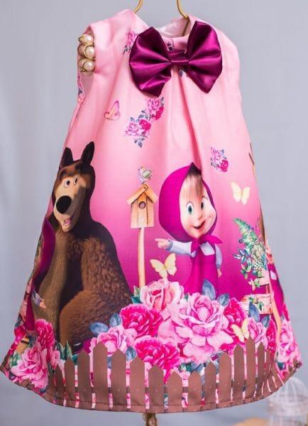Vestido Masha e o Urso Trapézio